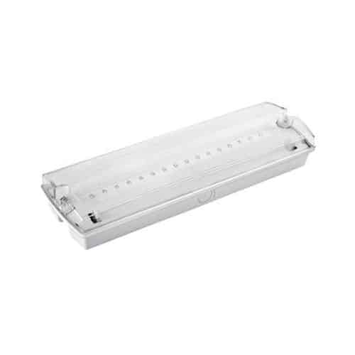 3.5W LED Emergency Maintained/Non-Maintained Bulkhead, 150lm, 6500K
