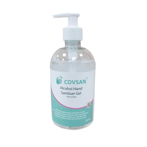 COVSAN Alcohol Hand Sanitiser 500ml – 70% – Pump Bottle