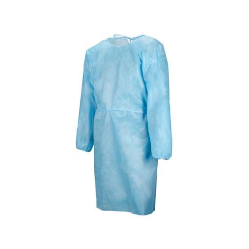 Isolation Gown – Blue Disposable Protective Fluid Resistant Gowns – 20pk
