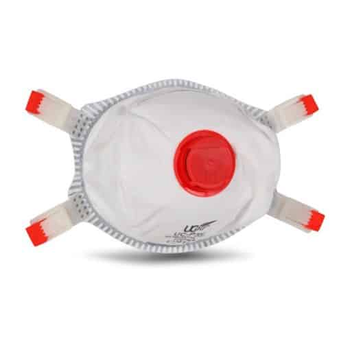 Premium P3 Cupped FFP3 Respirator with Foam Inner Seal and Exhalation Valve to the Front.