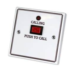 C-Tec Nursecall 800 Standard Call Push with Protruding Button, No Reset, No Remote