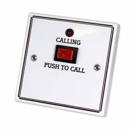 C-Tec Nursecall 800 Standard Call Push with Protruding Button, No Reset, No Remote