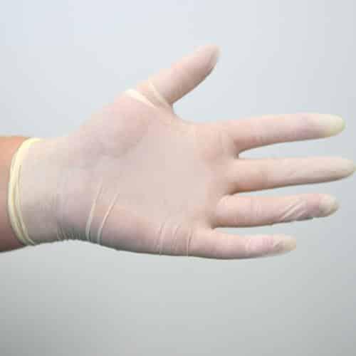 Latex Gloves – Powder Free – 100pk – Large
