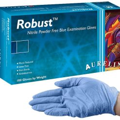 Aurelia Robust Nitrile Gloves – Powder Free – 100pk – Large