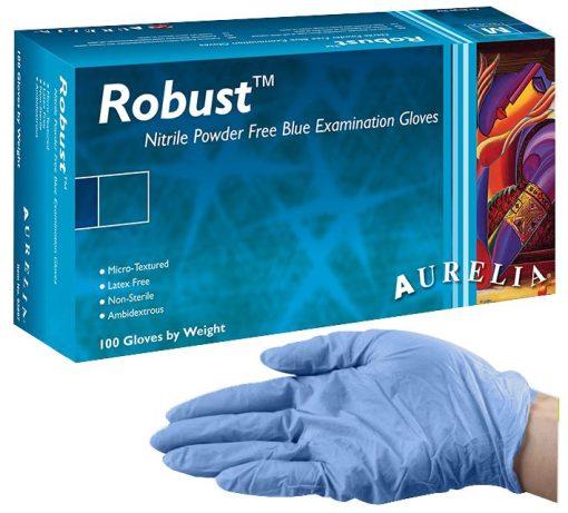 Aurelia Robust Nitrile Gloves – Powder Free – 100pk – Extra Large