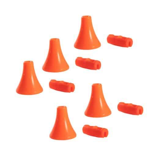 Orange Acorn & Connector Set for Pull Cords