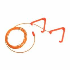Orange Anti Ligature Pull Cord & Triangle Set – Antibacterial / Antimicrobial Wipe Clean