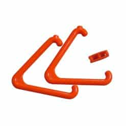 Orange Triangle & Connector Set – For Emergency & Alarm Pull Cord Systems