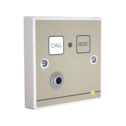 Quantec Addressable Call Point, Magnet Reset c/w Remote Socket