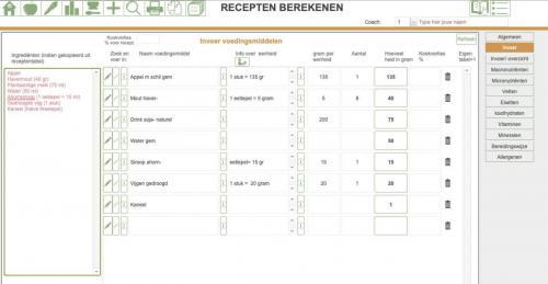 recept berekenen 2