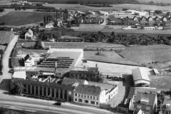 Nyborg Jernstøberi, ca. 1965, luftfoto