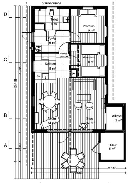 Nordstrandhus-plantegning