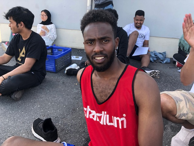 Abdulhakim Hussein vann 10000-metersloppet på Spånga IP.