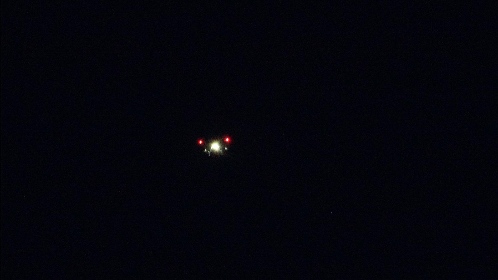 Polisens drönare i natten