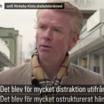 Ole-Jörgen Persson intervjuas i SVT.