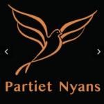 En tecknad duva illustrerar partiet Nyans.