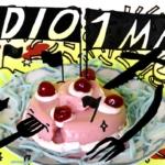 Illustrerad tårta med texten Radio 1 maj