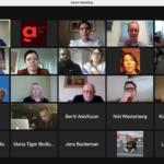 Skärmdump från det digitala mötet.
