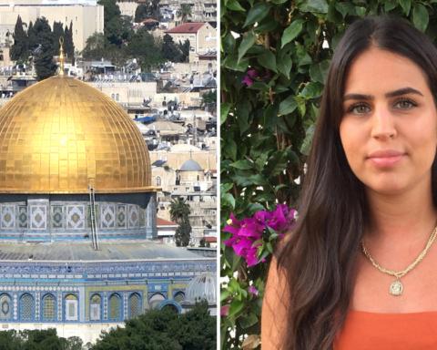 Till vänster: al-Aqsamoskén i Jerusalem. Till höger: Hilin Al-tamimi
