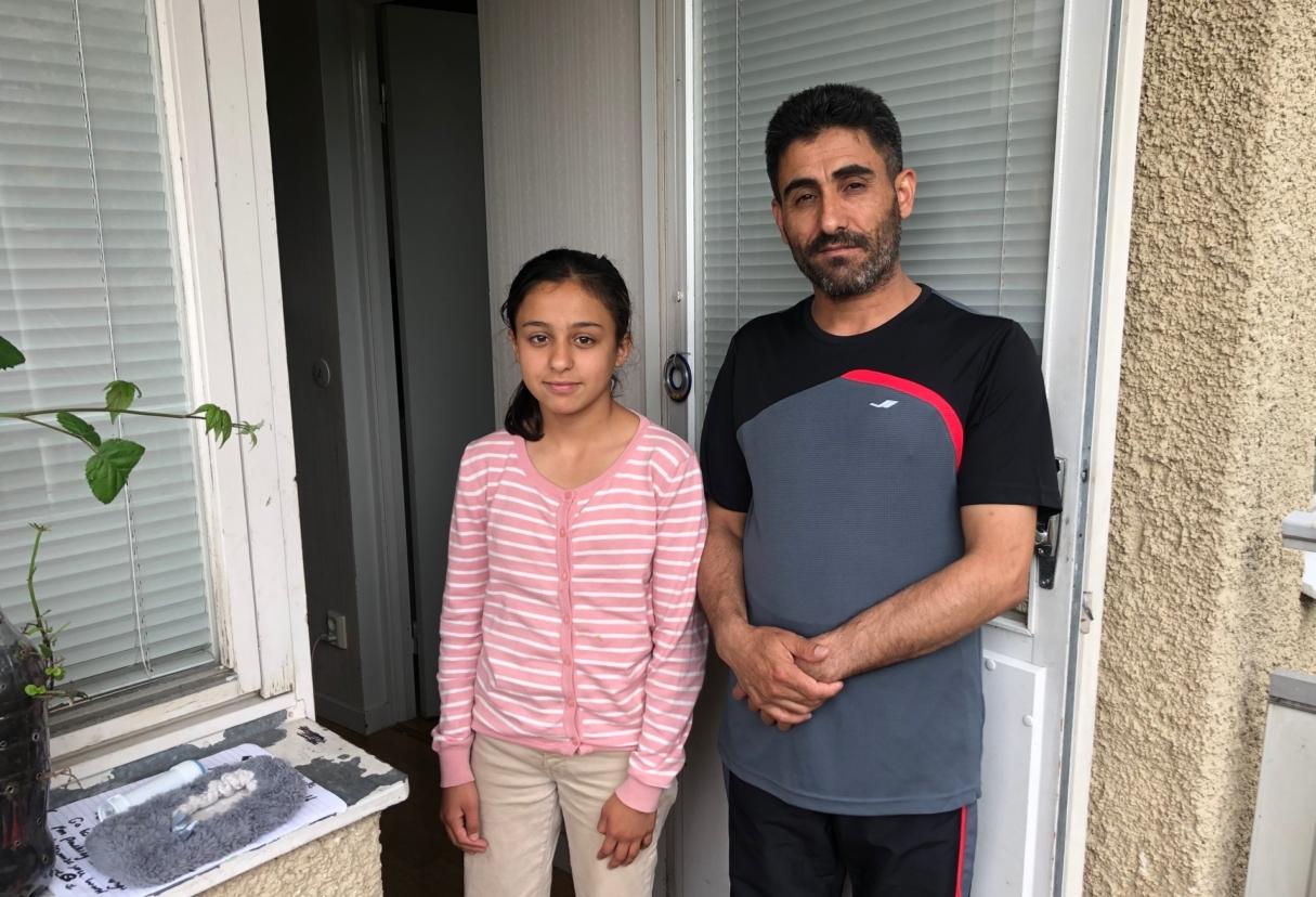 Eliwi Alomir och hans dotter Sidra