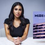 Porträtt på Melody Farshin och omslaget till Mizeria