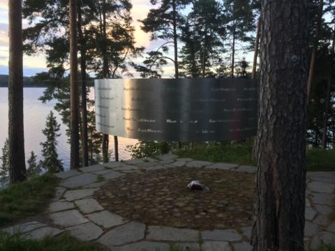 Monumentet efter attentatet på Utöya.
