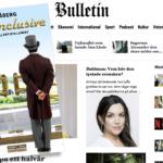 Omslaget till boken All inclusive framför nyhetssidan Bulletin