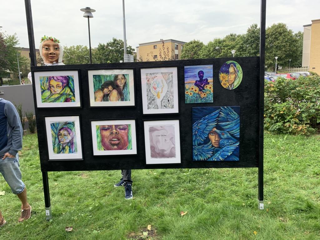 Konstutställning av den palestinska konstnären Daliyah