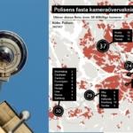 övervakningskaera och karta över området som bevakas