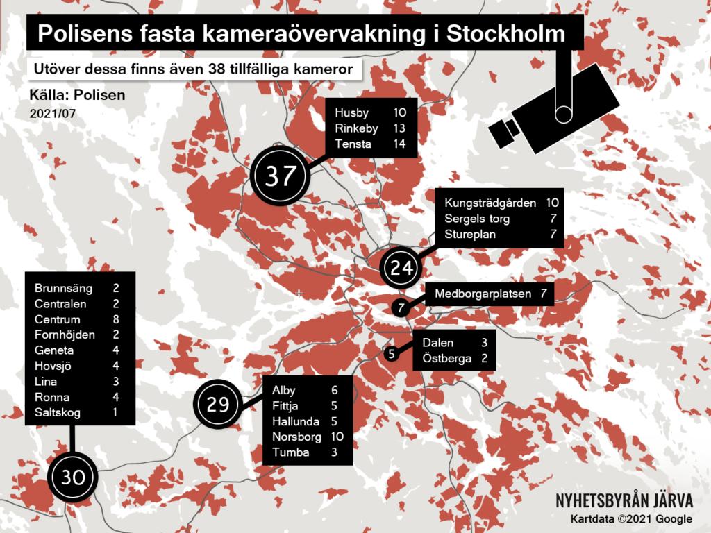 karta över polisens övervakningskameror