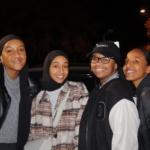 Fyra unga tjejer