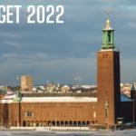stockholms stadshus med texten budget 2022