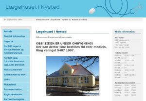 Nysted Lægehus online system nede indtil videre