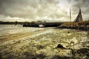 Lavvande i Nysted havn