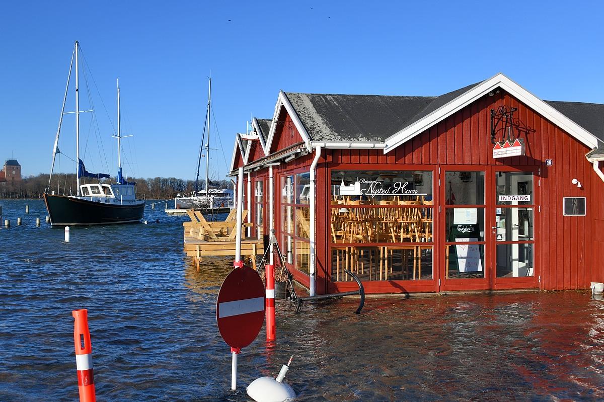 Restaurant Nysted Havn ramt af omfattende ødelæggelser