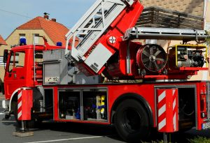 Brand i en ejendom på Egholmvej