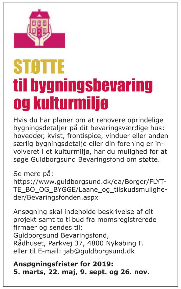 Støtte til bygningsbevaring og kulturmiljø