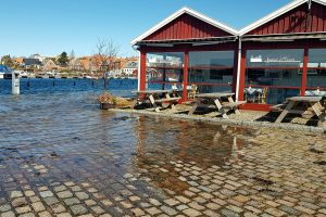 Igen oversvømmelse i Nysted havn