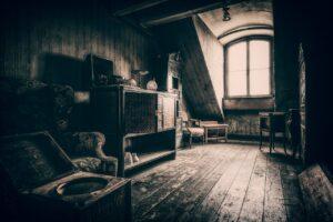 room, attic, old