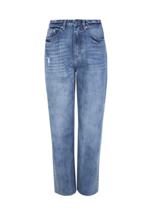 soft rebels SR220-807 forever light blue High waist straight jeans