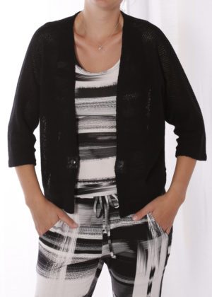Elsewhere 3216 vest zwart black open