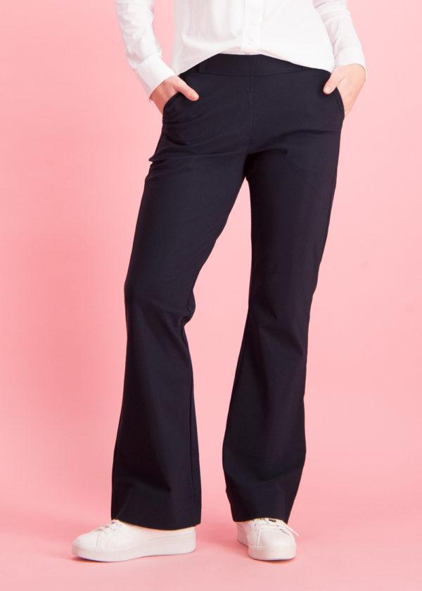 Studio Anneloes Flair bonded trousers dark blue donker blauw