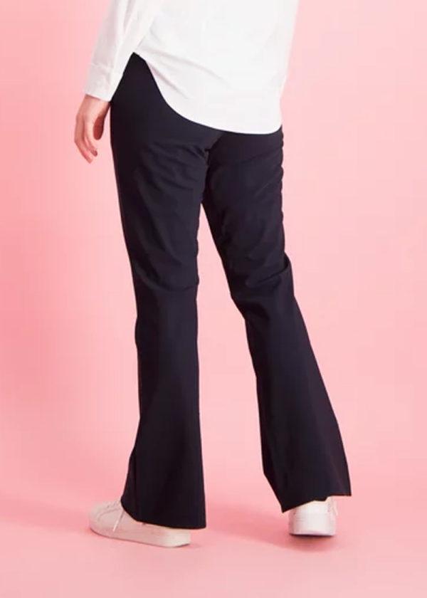 Studio Anneloes Flair bonded trousers dark blue donker blauw achterkant