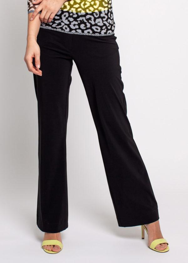 Studio Anneloes Flair bonded trousers black zwart