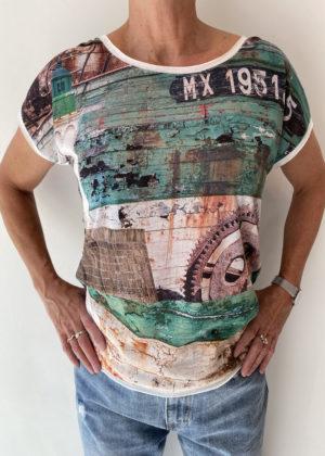 Camaret sur mer vintage green dividere shirt voorkant