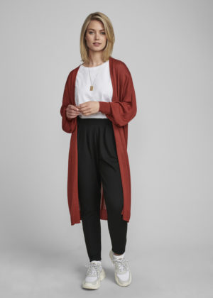 7520281 Nümph nubia long cardigan barn red