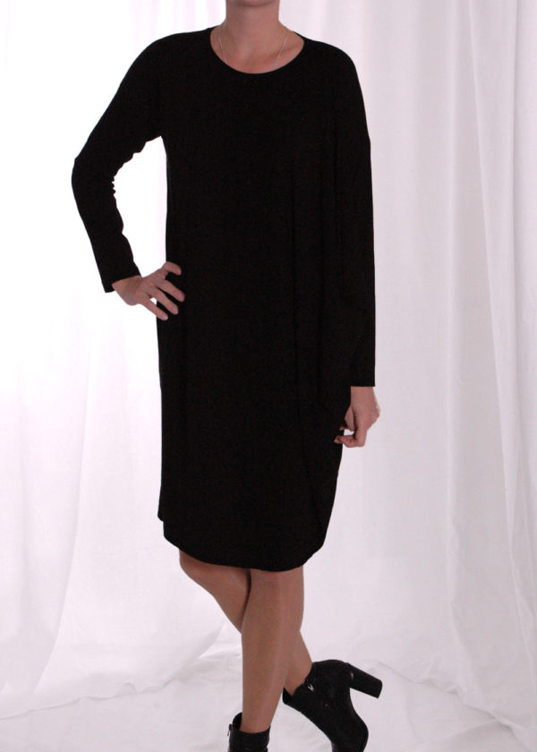 Elsewhere 3357 Tunic jersey black voorkant