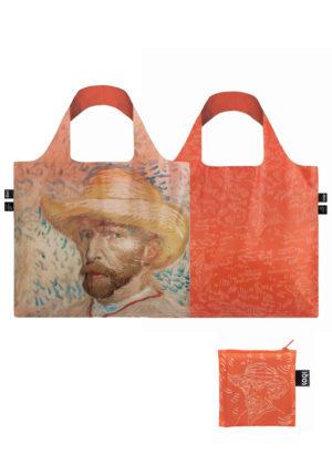 self portrait with straw hat loqi bag tas