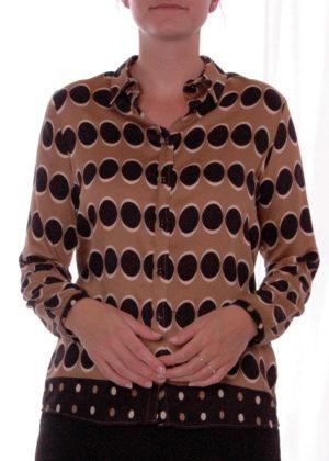 03-6548-3054-1 milano italy hazelnut print blouse