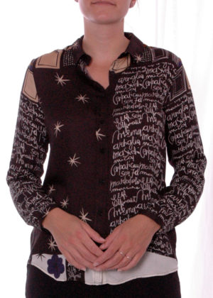 03-6550-3054-1 Milano italy hazel print blouse
